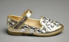Fashion New ankle tripe rhinestones baby gilrs shoes