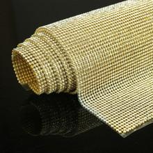 High Quality Clear Crystal Rinestones Trimming Mesh Hot Fix Rhinestones Transfer Garment Accessories