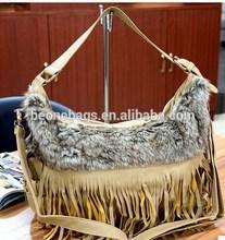 Customized Made Noble Online Shopping Wool Fringe Shoulder Hand Bag