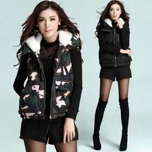 NZD1011 winter new women's zipper waistcoats warm cotton sleeveless vest
