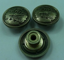 custom easy brass button for jeans