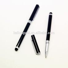 Metal short ballpoint pen in stylus