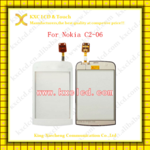 Wholesale the best price for C2-02/C2-03/C2-04/C2-05/C2-06 touch screen,for the mobile phone LCD Nokia C2-06 digitizer screen