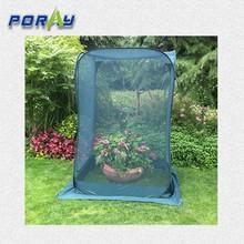 Dark green mesh Pop-Up Fruit Cage for garden or flower