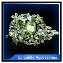 Beautiful Elegant Crystal Bling Rhinestone Flower Brooches invitation ribbon Brooch