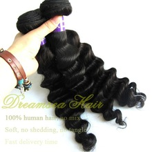 100% virgin indian human hair deep wave natural black products exported from brazil