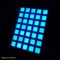 led dot matrix matrix 5x7 6x6mm exibição ultra azul levou dot matrix
