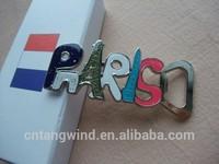 custom epoxy resin metal paris souvenir fridge magnet