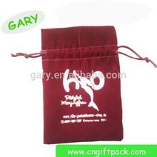 Custom High Quality Cell Phone Velvet Drawstring Bag With Logo
