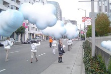 0.18mm PVC cloud shaped helium balloon, advertising inflatable cloud balloon S3072
