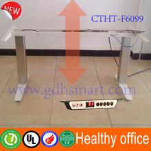 Metal computer table & height adjustable desk frame to prevent cervical spondylosis & electric standing desk