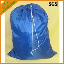 Laundry drawstring nylon bag for clothes