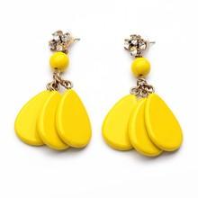 Tear Drop Ladies Earrings Designs Pictures