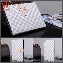 Universal fashion Plaid checkered leather case for ipad mini ,buckle Premium PU for ipad