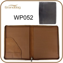 Zippered PU Leather A5 Padfolio