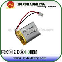high capacity rechargeable li-ion battery 3.7v 1500 mah batteries li-po battery