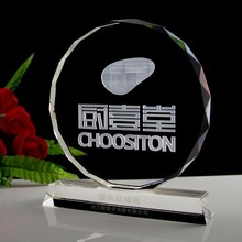 Wholesale Cheaper K9 optical crystal trophy for guest decoration