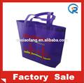 A granel no tejido bolsos de compras/singular no tejido bolso de mano/de impresión de bolsas de no tejido