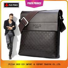 Hot sale polo men PU leather bag