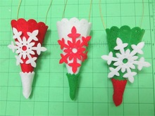2015 Felt Cones With Embelished Snowflake bag made in China