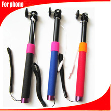 Any angle hand held monopod different types colors wired monopod Portable Lazy Bracket