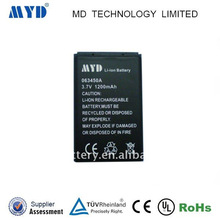 li ion battery 3.7v 1200mah 063450 rechargeable li-ion battery for GPS tracker