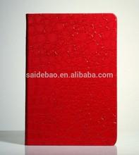2015 fashional pu notebook with alligator pattern,custom made pu leather notebook alligator pattern pu notebook