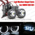 Top sale 20w C ree XML 1600lm led angel eyes car led marker headlight light day light conversion kit for BMW E60 E61