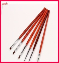YASHI Excellent Wooden Handle Nail Art Brush for Nail painting polish brush