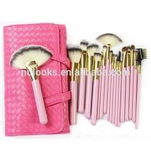 pink cute 18 pieces beauty basic needs makeup brush set