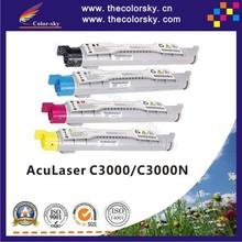 (CS-EC3000) compatible toner cartridge for EPSON AcuLaser C3000 C3000N 3000 S050210 - S050213 kcmy (4k/4k Pages)