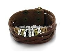 100% Classical Roman Maths leather bracelet Multilayer Elegant Genuine leather bracelet bangle wristbands