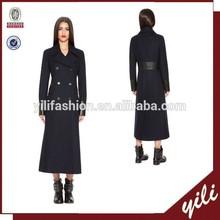 2015 stylish long coat double breasted winter wool maxi coat