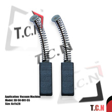 2PCS 6X11X28mm VACUUM CLEANER PAIR OF ROTARY CARBON BRUSHES