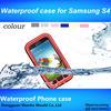 2014 Wholesale PC Silica gel phone waterproof case for samsung galaxy s4 mini