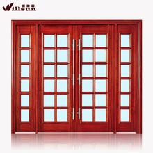 Best quality wooden sliding handle doors solid wood glass material doors