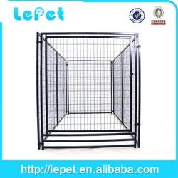 black folding metal dog fence