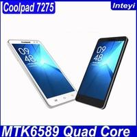 Original brand phone Coolpad 7275 4GB 5.5 inch 3G Android 4.2 Smart Phone MTK6589 1.2GHz RAM: 512MB Dual SIM WCDMA & GSM
