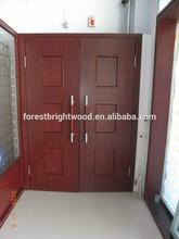 """Red Oak Wine Red 1 3/4"""" Conference Room Double Door Design"""