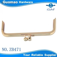 Zinc alloy decorative with crystal iron hardware frame for bags