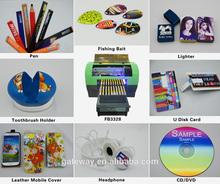 a3 flatbed printer digital inkjet printer pen/tool handle/ tshirt/glass/metal/ceramic