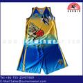 Tejido ajuste seco grupo desgaste uniforme del baloncesto diseño de logotipo