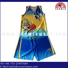 Dry fit fabric team wear basketball uniform logo design