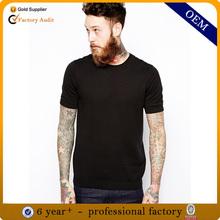 High quality o neck plain black t shirt men