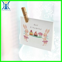 Yiwu 2014 New Arrived plain handmade creative white handmade birthday greeting card
