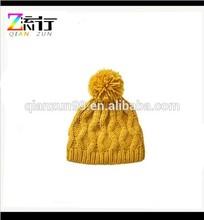 Woman Winter Yellow Crochet Beanie hats