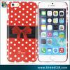 polka dot custom design cell phone case for iphone 6, for iphone 6 custom pc case