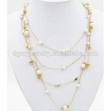 Pearl chain design pendant necklace costume jewelry