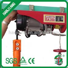 hot sale mini electric hoist 100kg/wire rope motor hoist