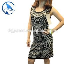 Latest Sexy Dress Designs Jacquard Knitwear